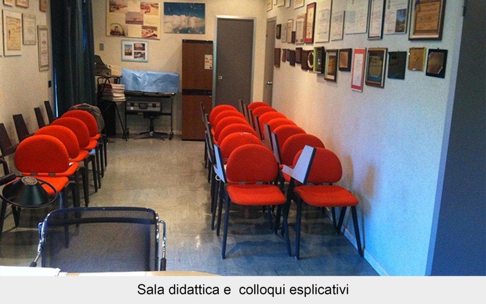 Sala didattica e  colloqui esplicativi