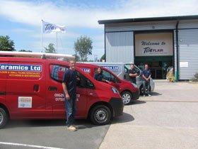 Ceramic tiling - Teignmouth, Devon - Jb Ceramics Ltd - Company Vehicle
