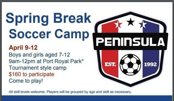 Spring Break Youth Soccer Camp