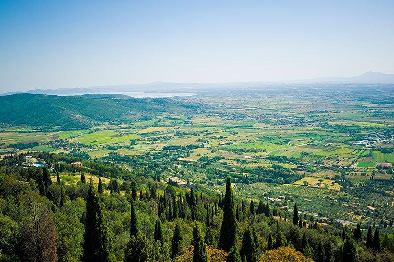 Lago Trasimeno - Vista Cortona