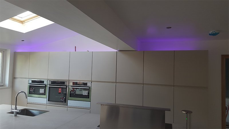 A newly installed kitchen