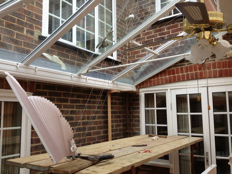 roof windows  being fitted