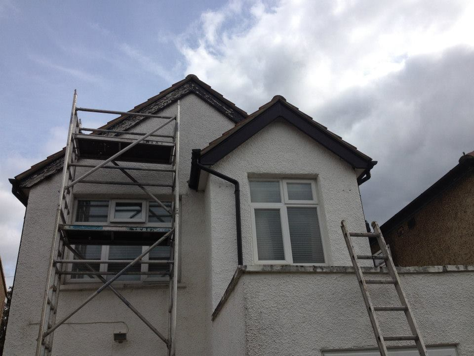 domestic building window installation