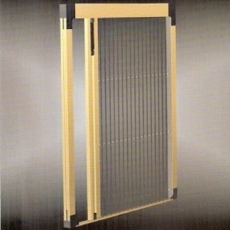Struttura per porte con rete plissè