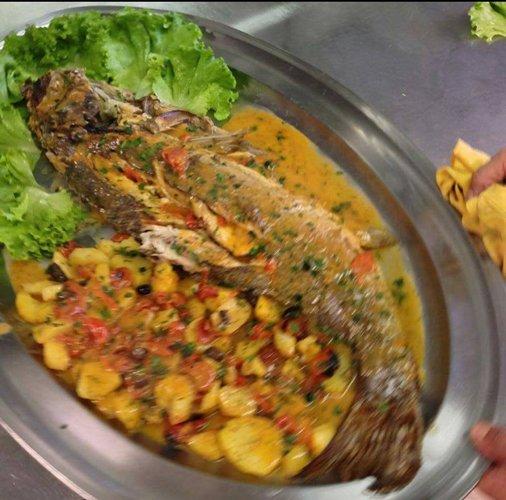 Secondo piatto a base di pesce presso La Cascinetta a Gerre De' Caprioli