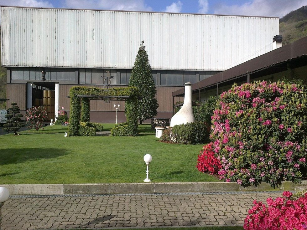 giardino di entrata industriale