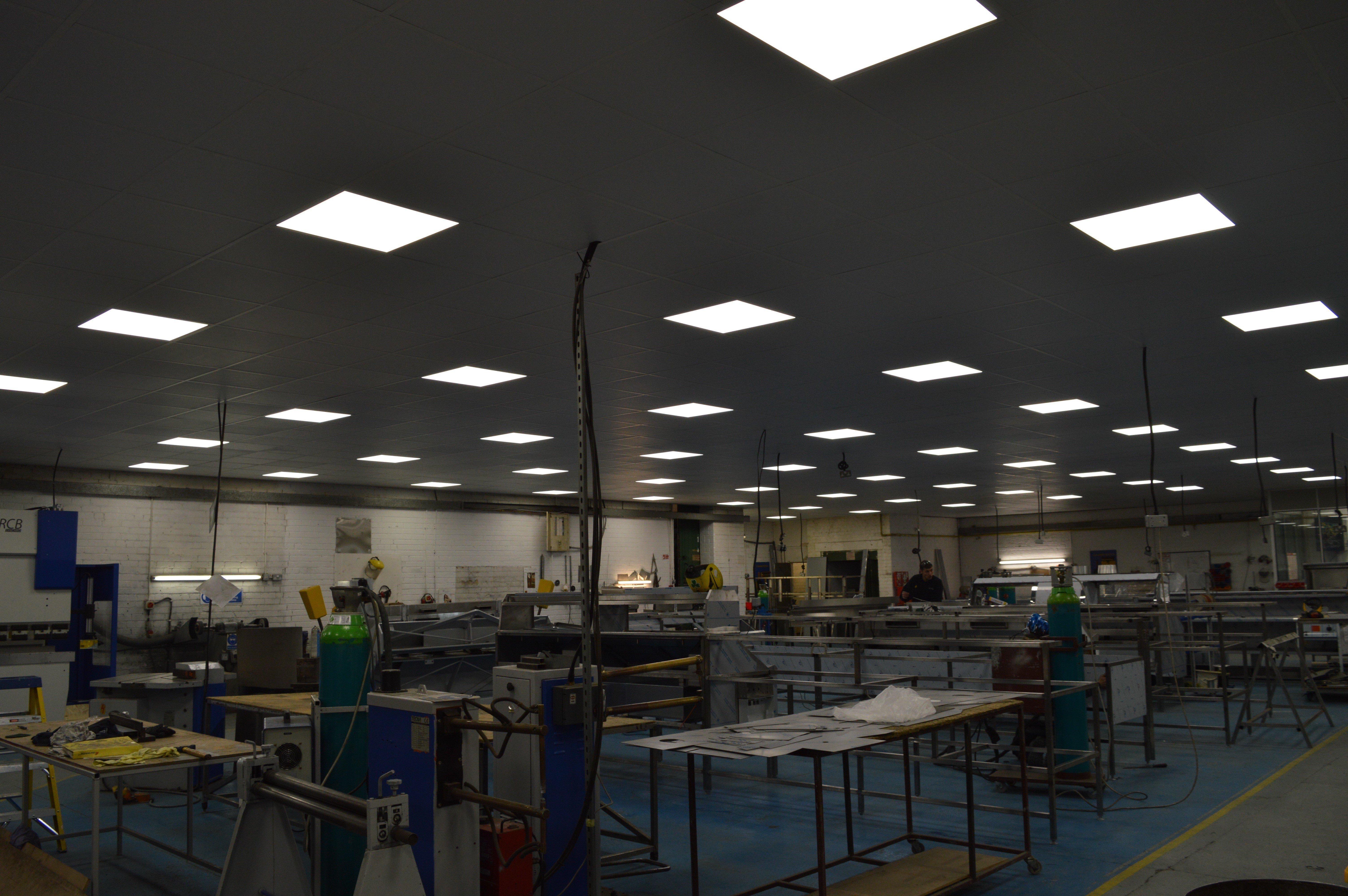 Suspended ceiling installation in progress