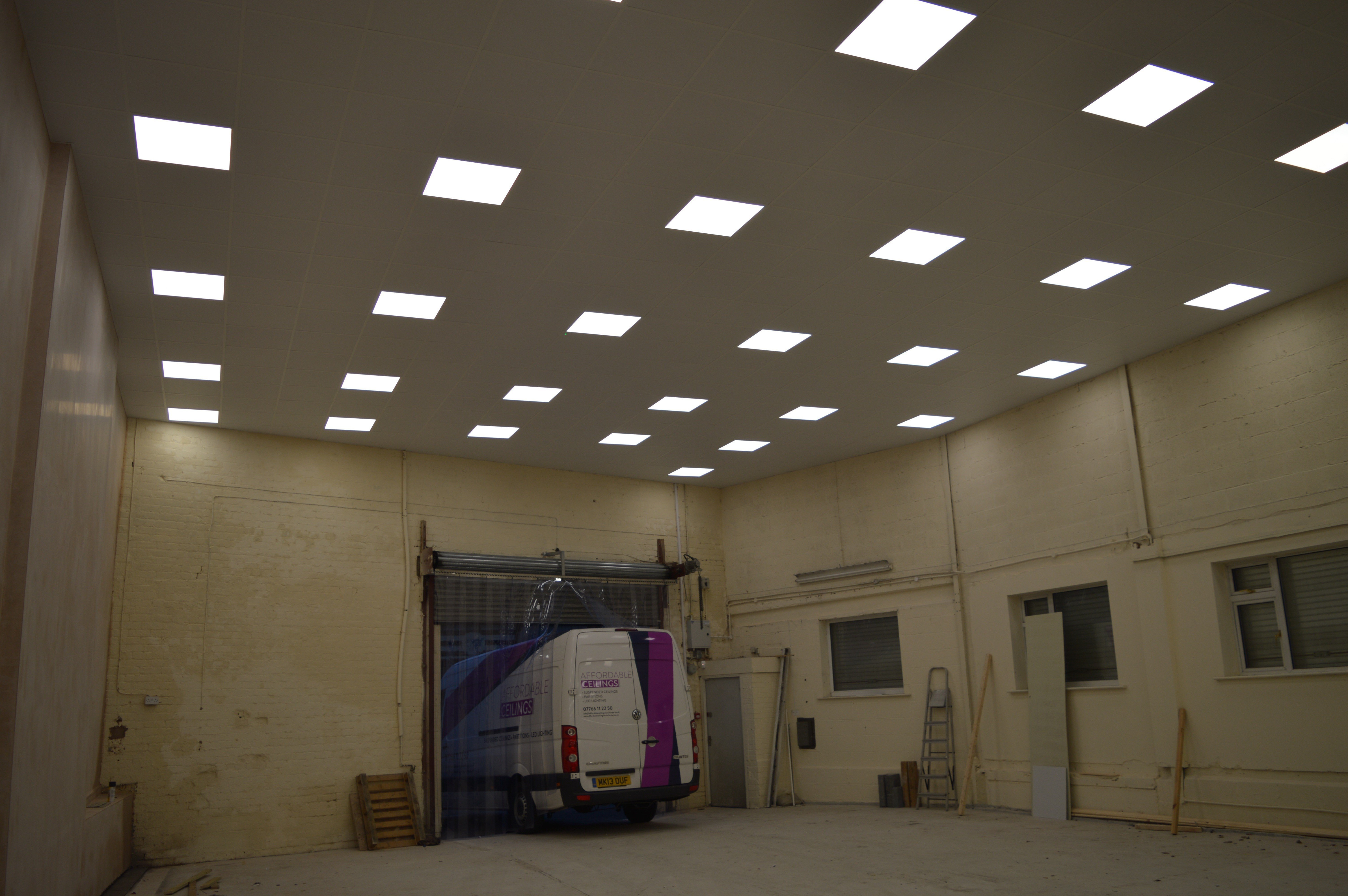 Lights in a suspended ceiling