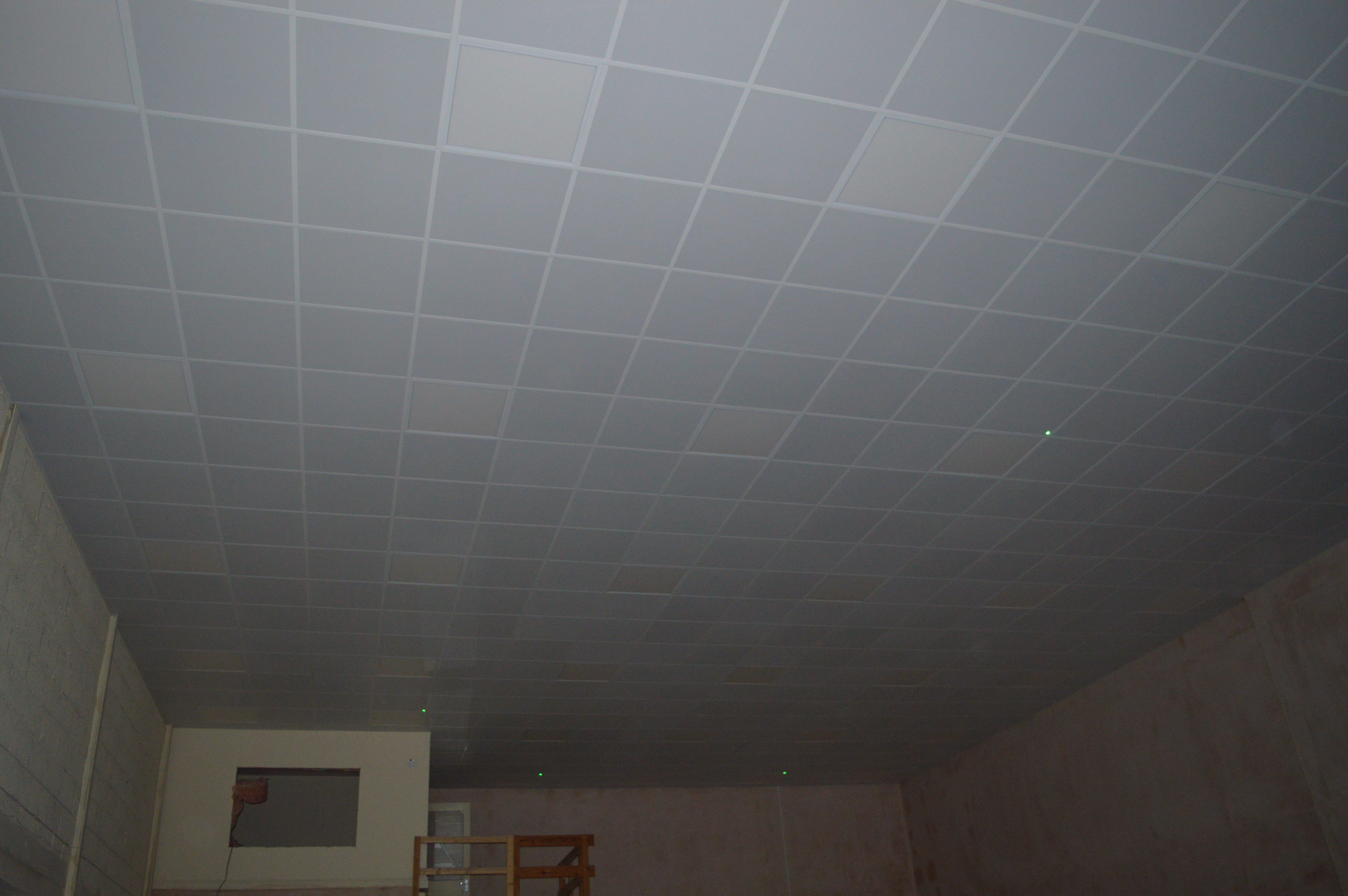Grey ceiling
