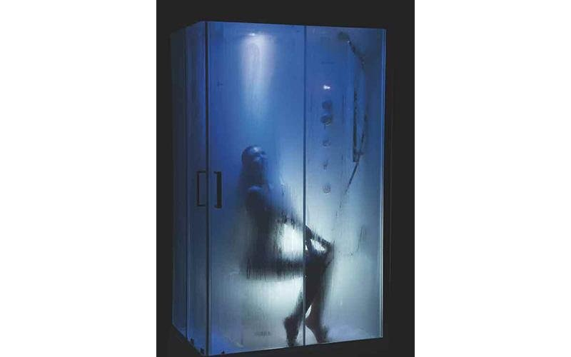 box doccia acciaio e plexiglass