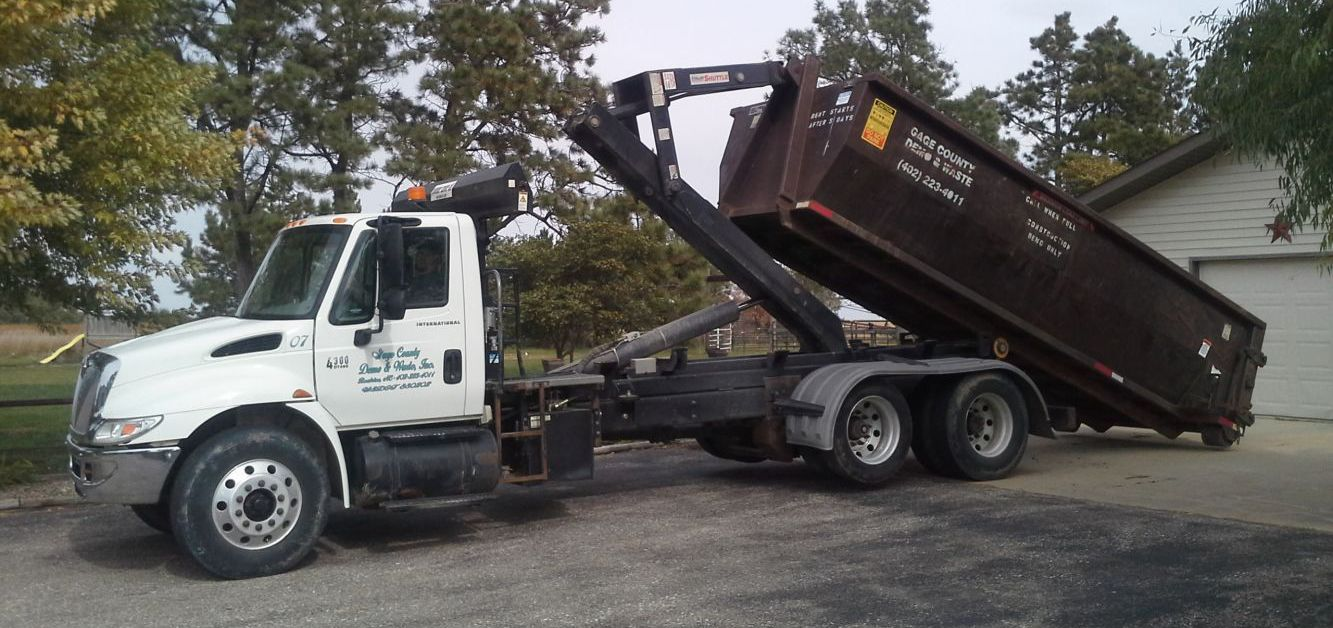 Earth moving machinery from our excavation company in Beatrice, NE