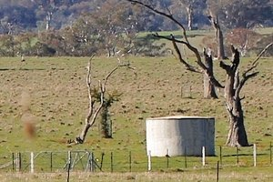One of our concrete water tanks in Victoria