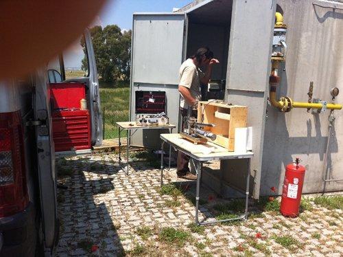 preparazione per monitoraggio gas