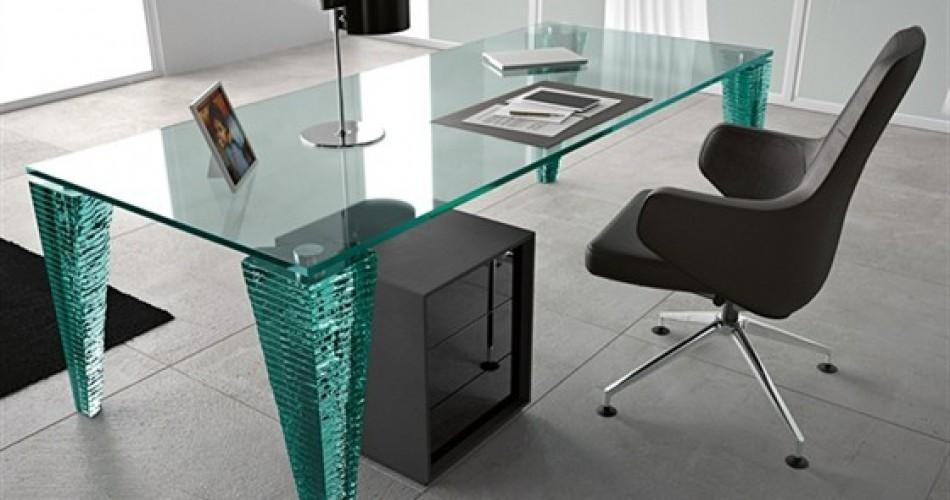 Tavoli per ufficio in cristallo