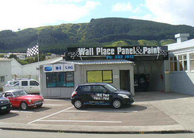 Wall Place Panel & Paint front shop