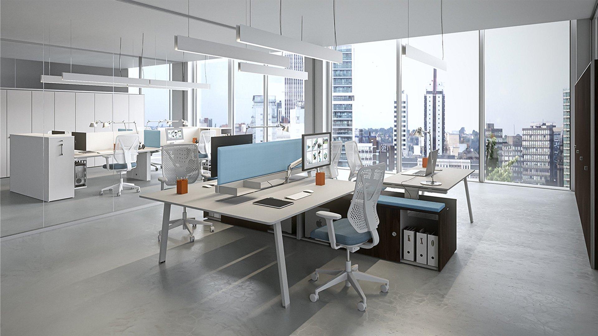 Piante Ufficio Open Space : Arredi per uffici castelfiorentino tanini marcello
