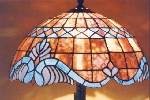 lampada in vetro realizzata a mano