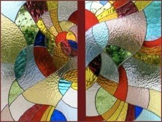vetrate lavorazione tiffany