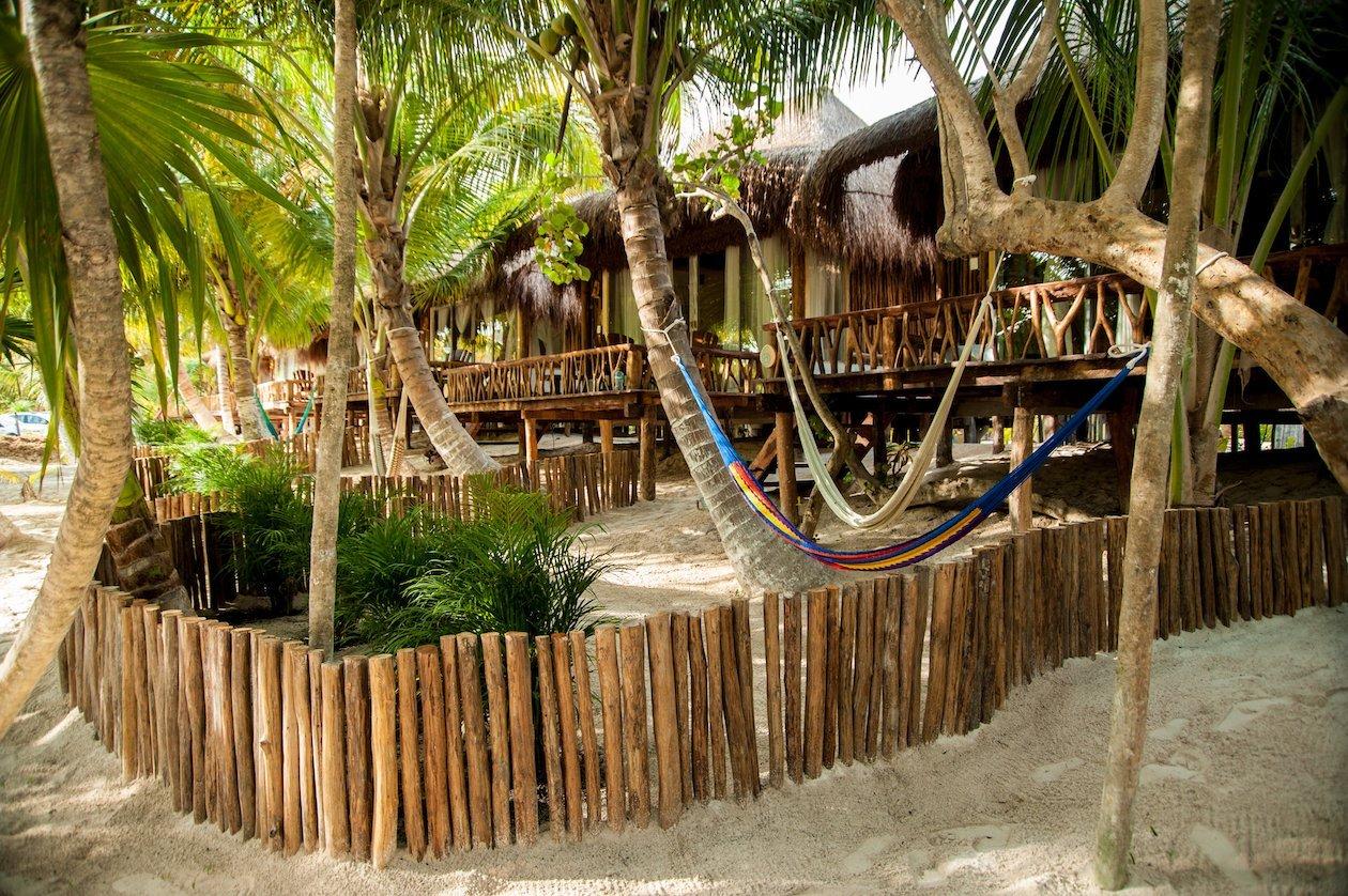Beach Cabanas Tulum Mexico - Partial Ocean View