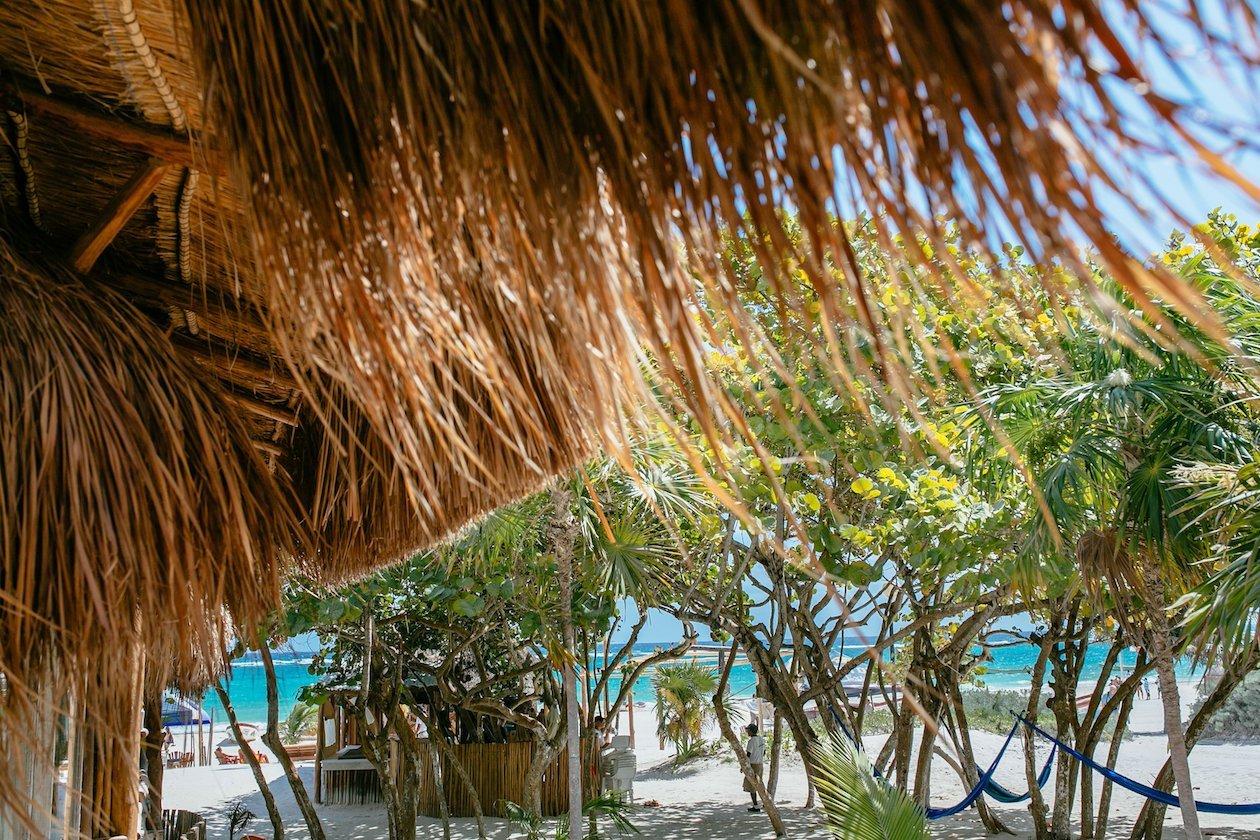 Beach Cabanas Tulum Mexico - Ocean View