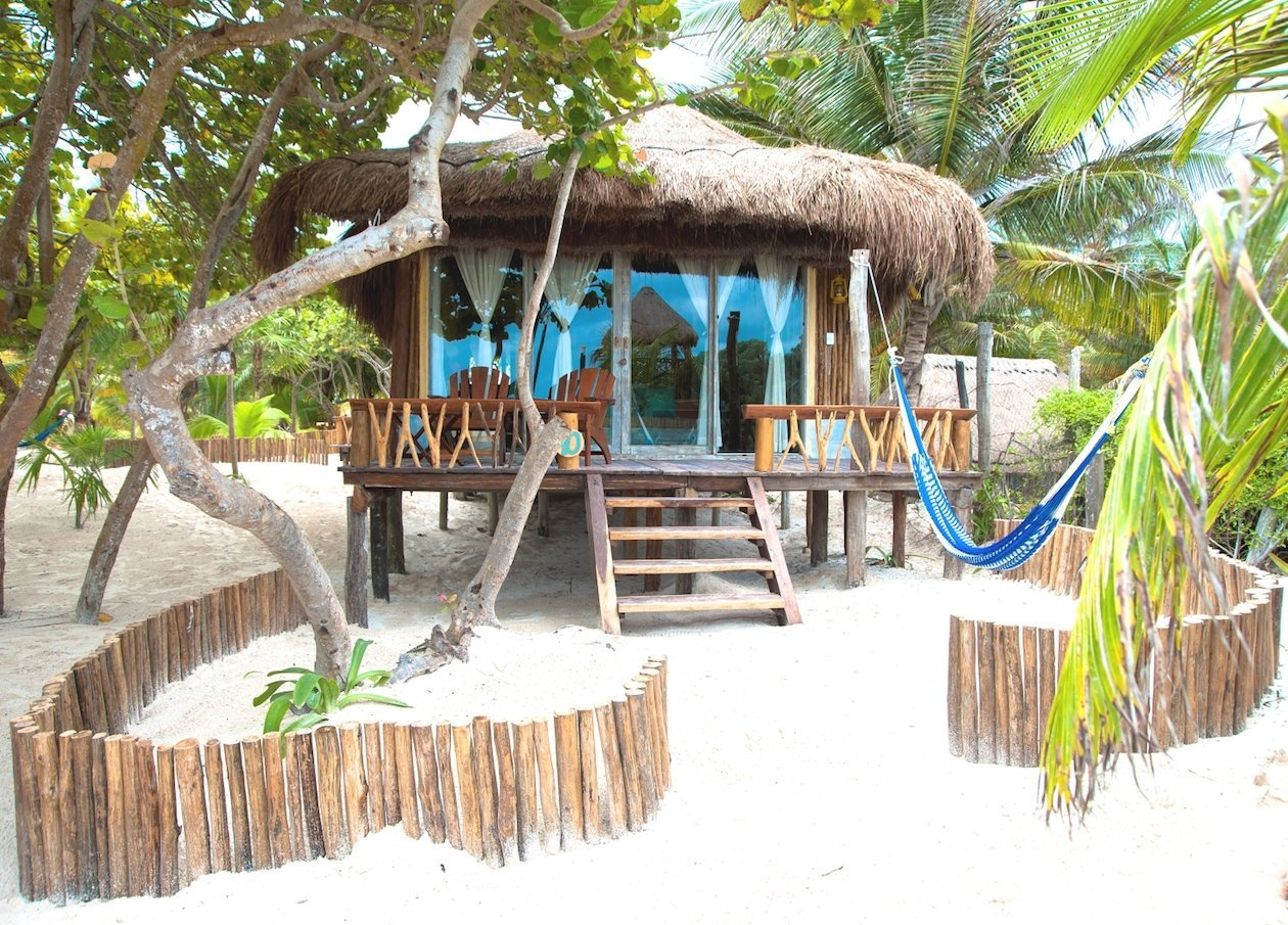 Beach Cabanas Tulum Mexico - Ocean View