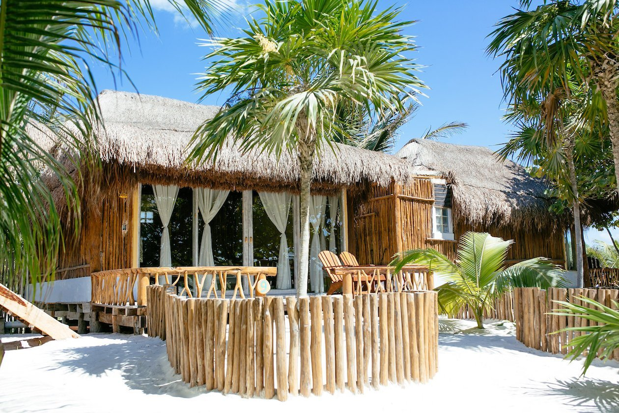 Beach Cabanas Tulum Mexico - Ocean Views