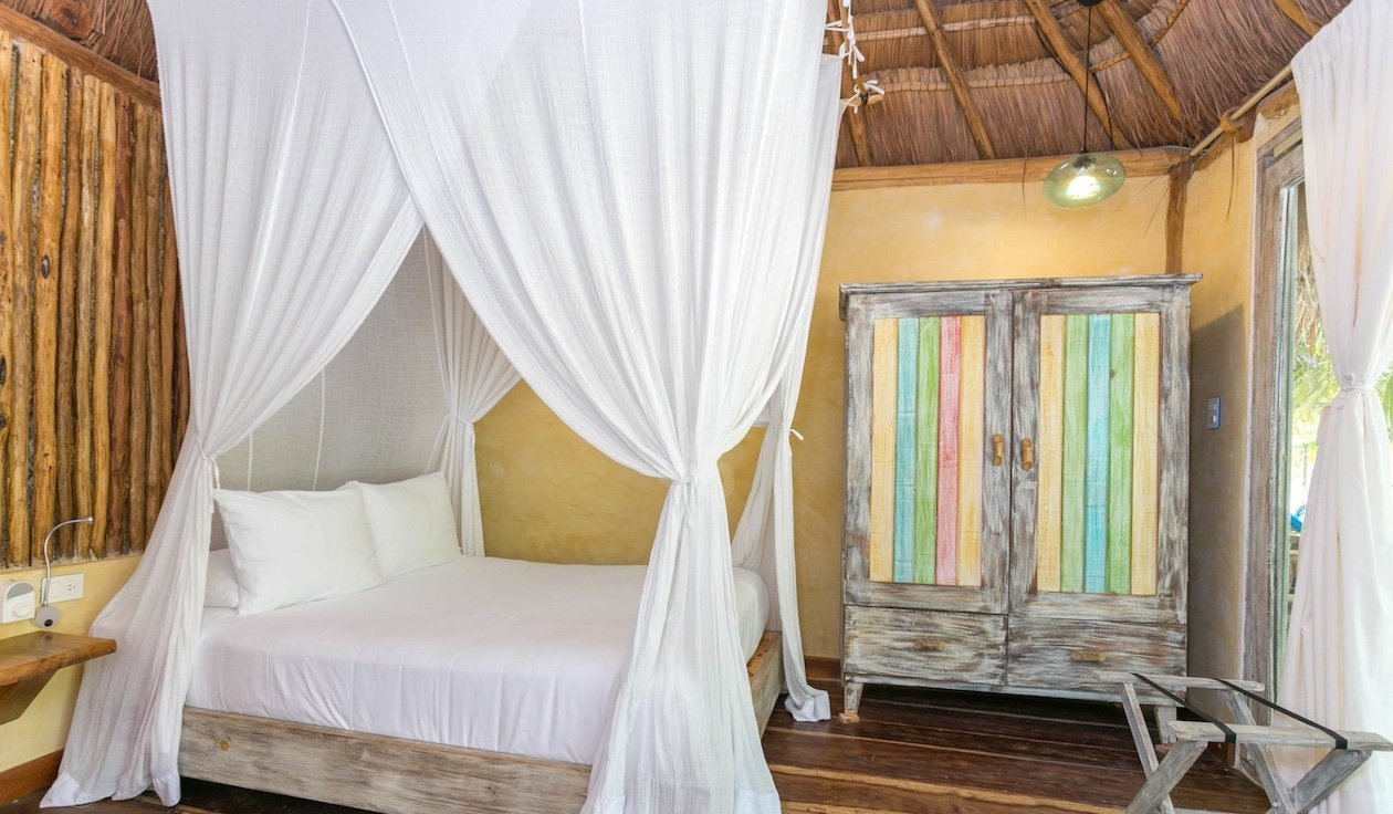 Beach Cabanas Tulum Mexico - Partial Ocean View