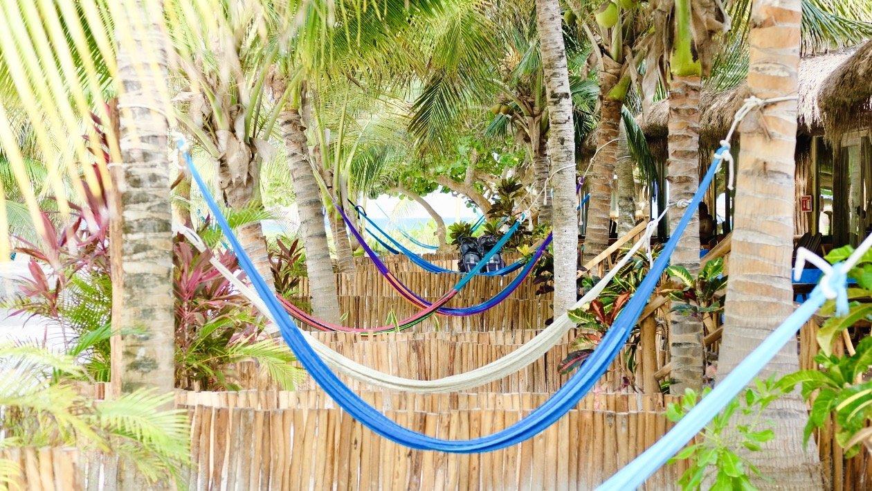 Tulum Beach Cabanas - Between Palm-trees