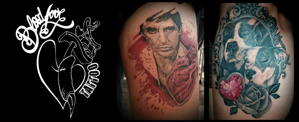blood love tatto