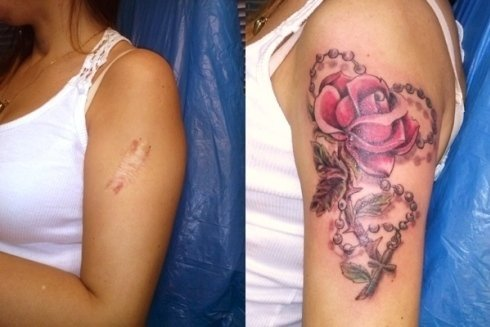 tatuaggi per coprire cicatrici