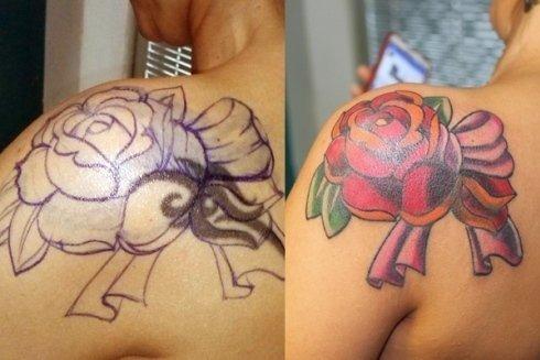 Colorazione vecchi tatuaggi