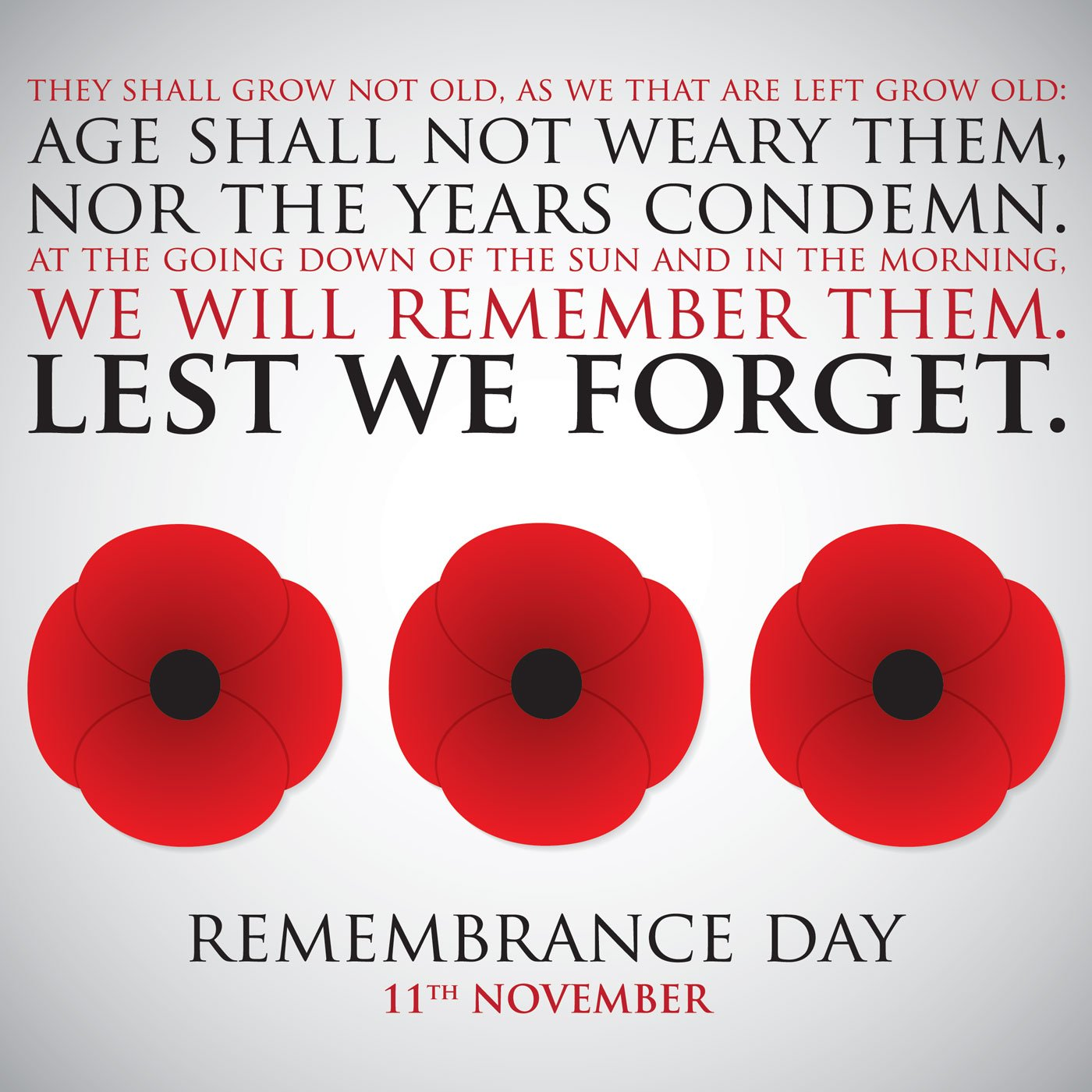 Remembrance day advertisement
