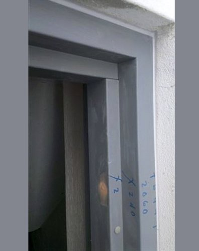 View of a solid door installed by expert