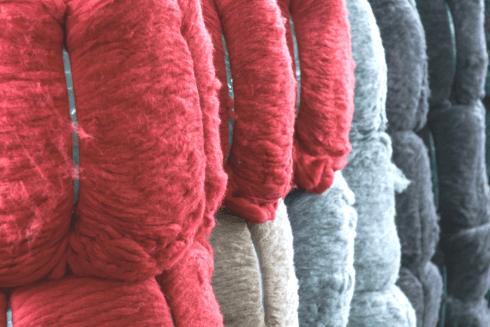 Rotoli di lana