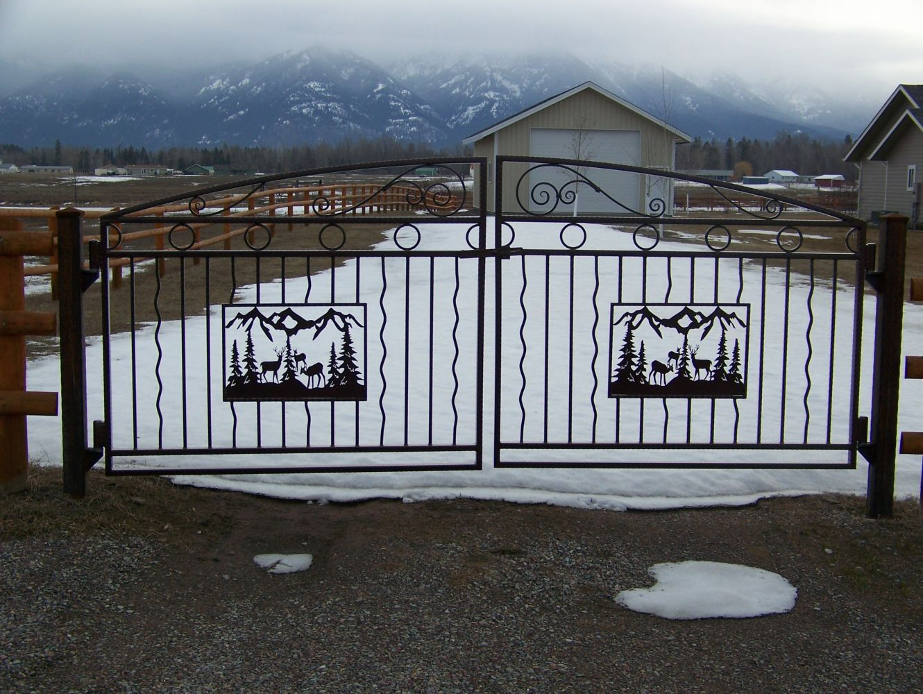 Wrought Iron Gates Near Whitefish Mt Countryside Welding
