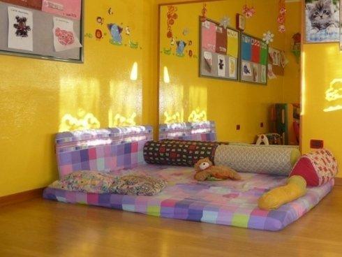 Sala interna attrezzata per i neonati