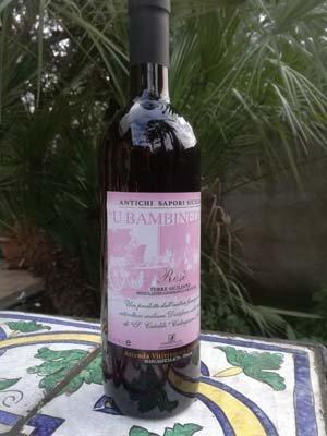 vino U Bambineddu dell'azienda vinicola