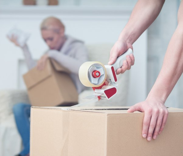 A box being tapped up