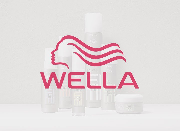 Logo of Wella products for styling at our Spalding Salon