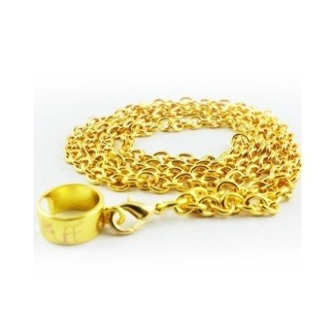 Tracolla QHIT anello acciaio dorata