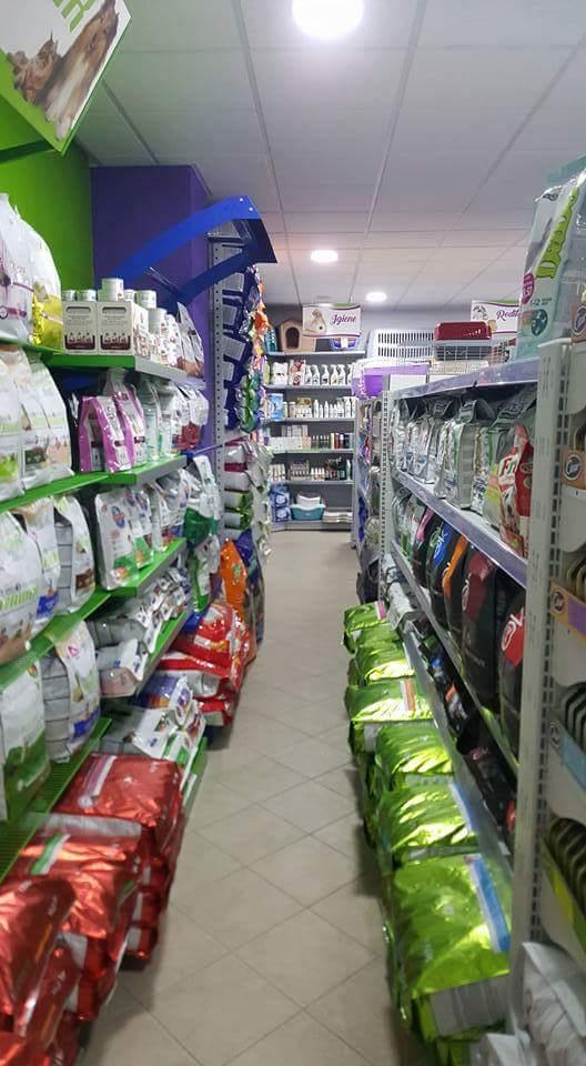 interno del negozio vista su scaffali