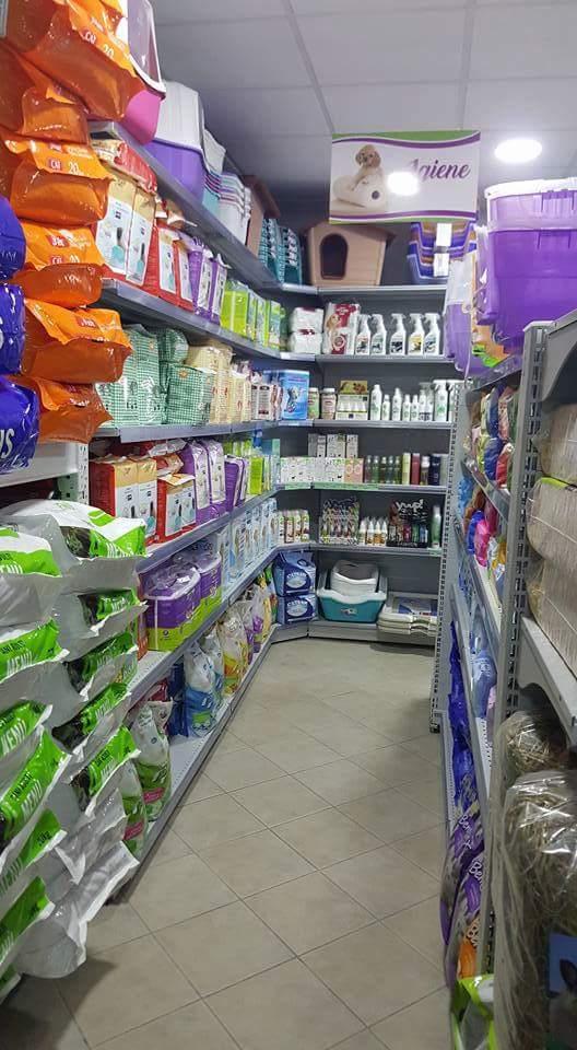 reparto igiene in negozio di animali