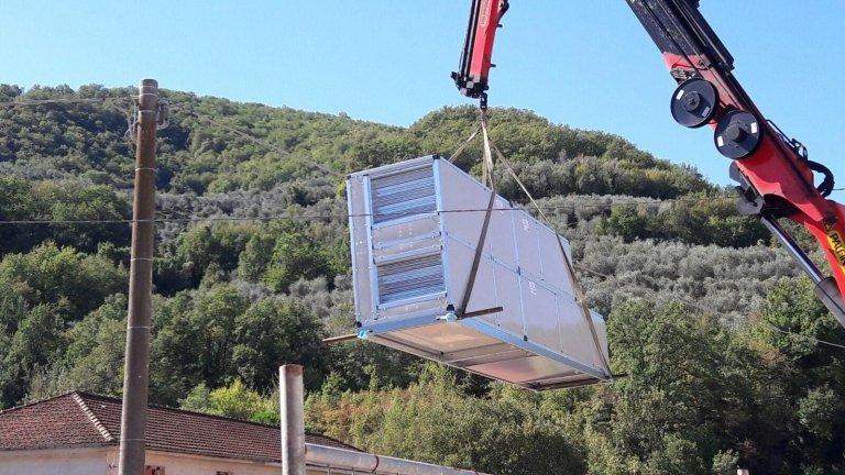 impianto di climatizzazione industriale