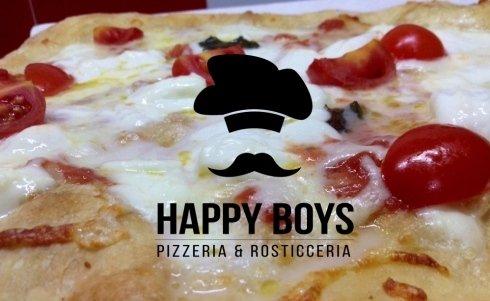 pizza con mozzarella di bufala, pomodorini