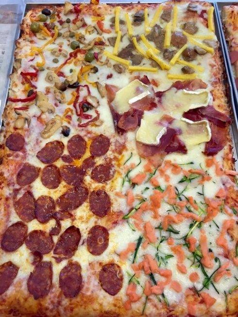pizza salamino piccante, pizza capricciosa