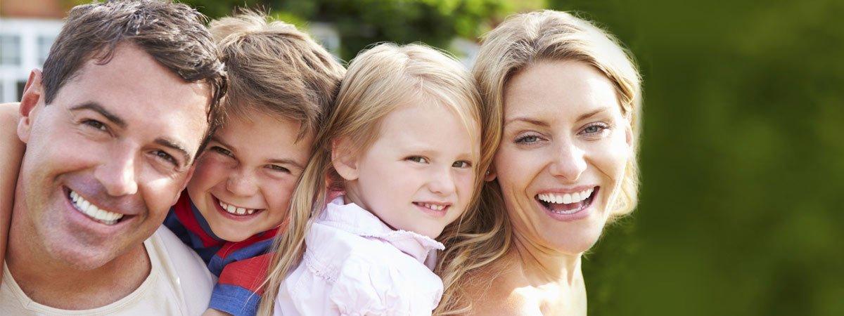hyalite dental happy family smiling