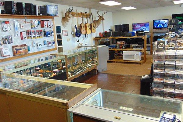 Guns at pawn shop
