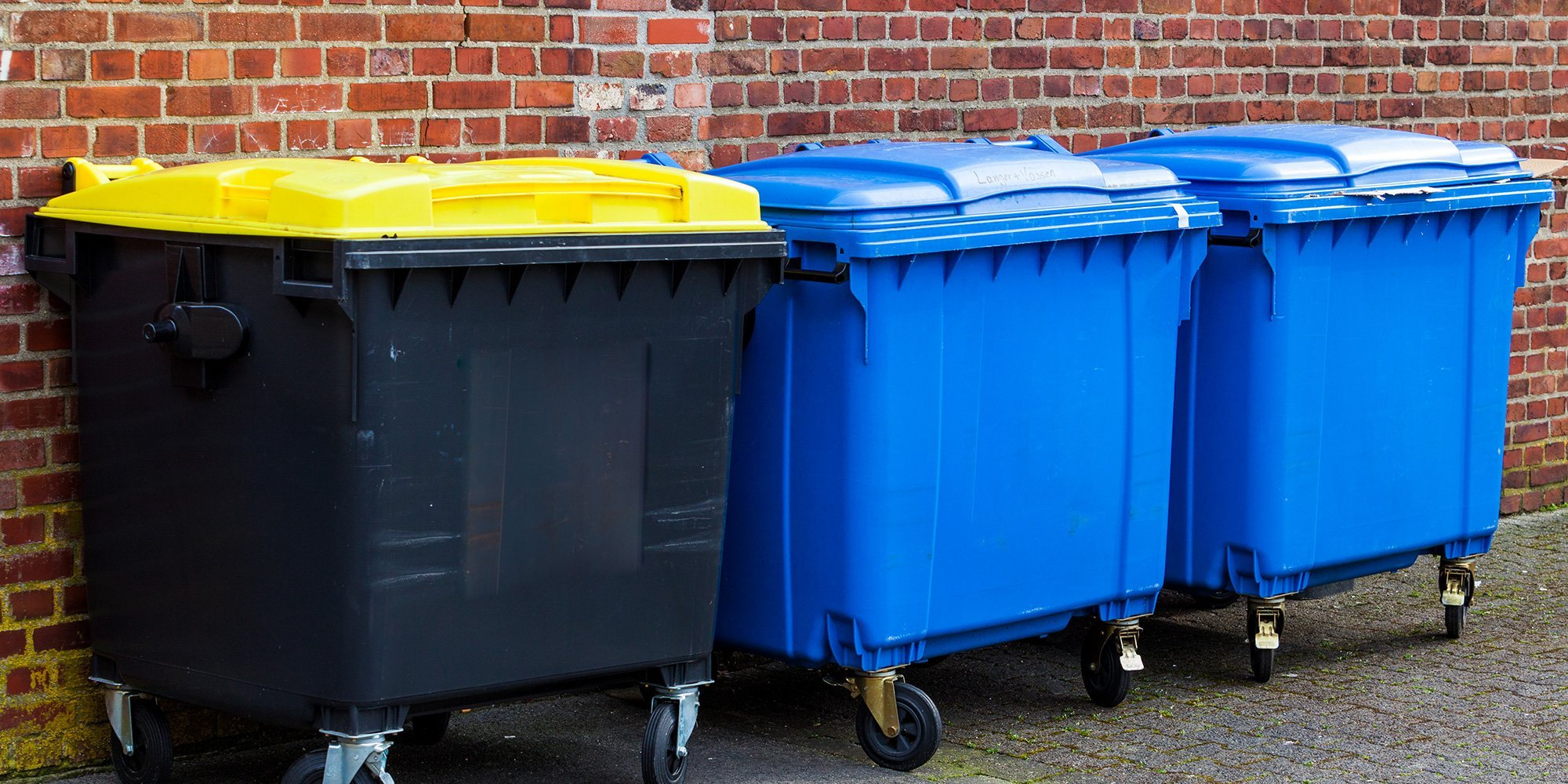 Garbage containers used by Hillfoot Waste Management Ltd