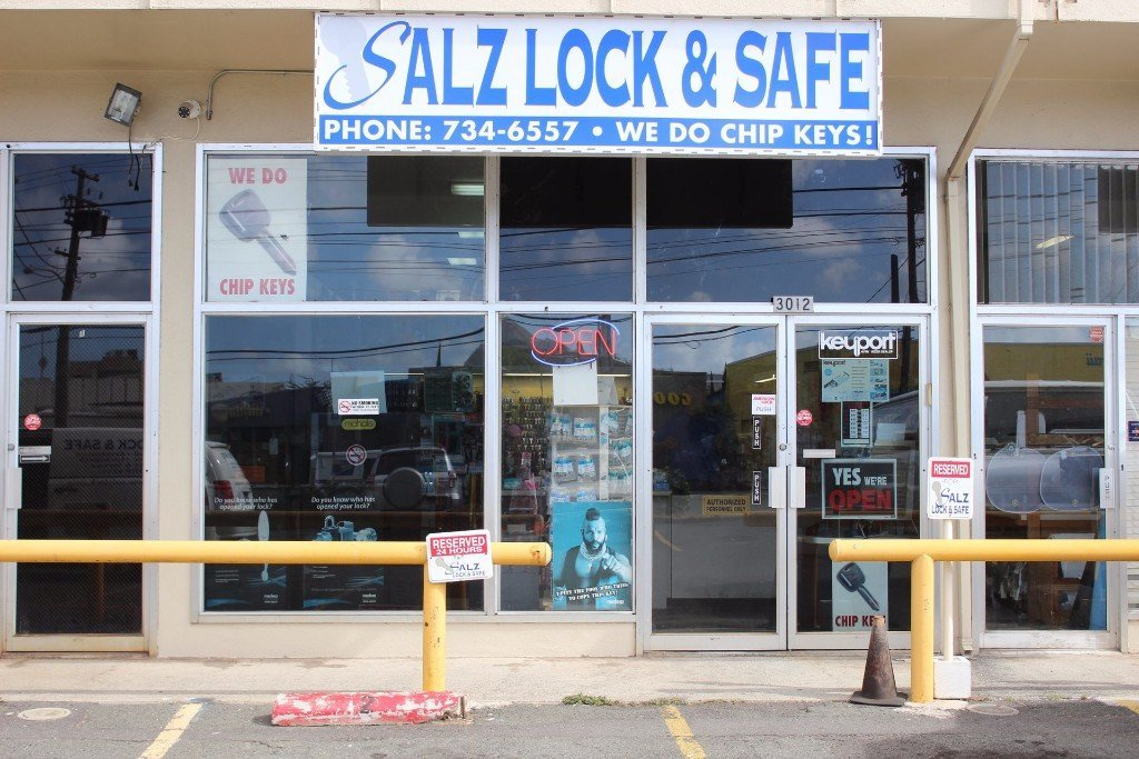 Salz lock and safe locksmith Honolulu rekey security systems Hawaii Oahu transponder chip keys