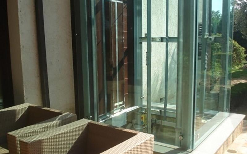 ascensore vetrato su misura